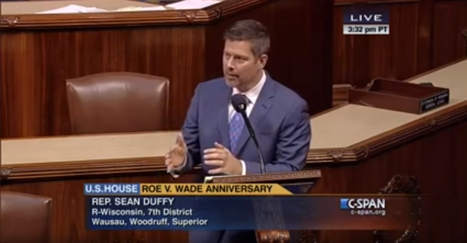 US Congressman Rep. Sean Duffy (R-WI) Courtesy CSPAN